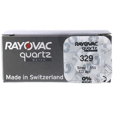 Rayovac 329 SR731SW 1.5V Silver Oxide Watch Battery